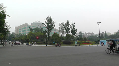Jintang Town Chengdu Area Sichuan China 3 street h Footage