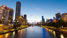 4k timelapse video of Melbourne from sunset to nig Footage