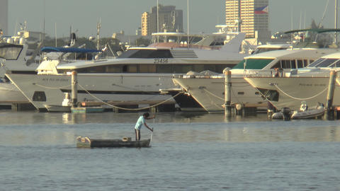 boats at shore Stock Video Footage