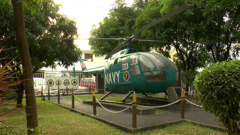 displayed helicopter Stock Video Footage