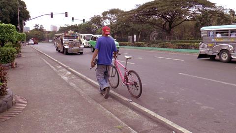 Jeepneys At Manila Street stock footage