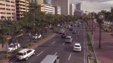 Elevated View Manila Bay Time Lapse stock footage