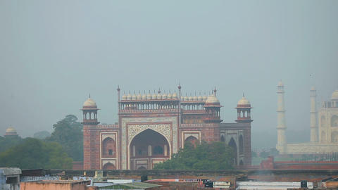 Taj Mahal Stock Video Footage