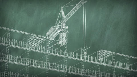4K Concept Of A Building Area At School Board stock footage