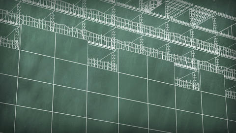 4K Concept of a building area at school board Stock Video Footage