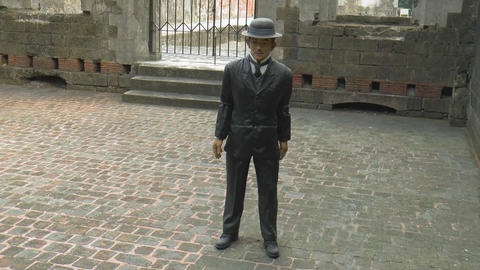 Jose Rizal Statue Fort Santiago Cell stock footage
