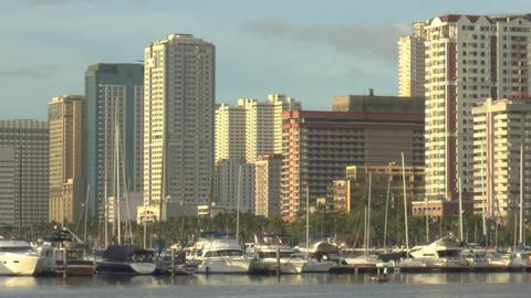 manila bay shore Stock Video Footage