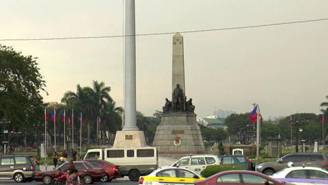 rizal park time lapse closer view Footage