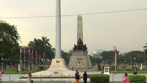 rizal park time lapse closer view Stock Video Footage