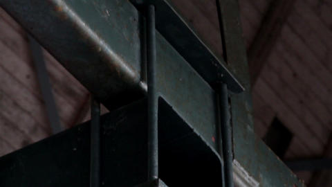 Big bolts on steel beams rusty rectangular metal Stock Video Footage