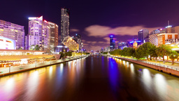 4k timelapse video of Melbourne at night Footage