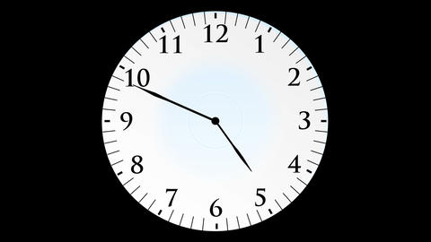 Animation, clock time without seconds, black backg Animation