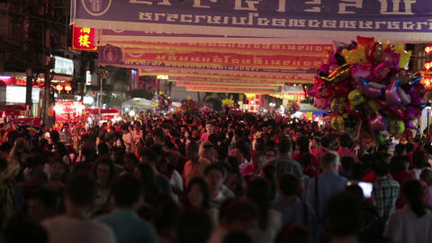 BANGKOK, THAILAND - FEBRUARY 2014: chinese new yea Footage