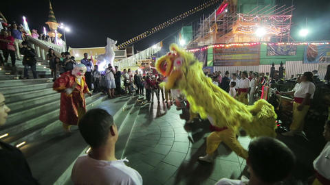 BANGKOK, THAILAND - FEBRUARY 2014: chinese new yea Stock Video Footage