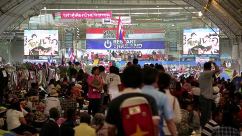 BANGKOK, THAILAND - FEBRUARY 2014: Bangkok shutdow Footage