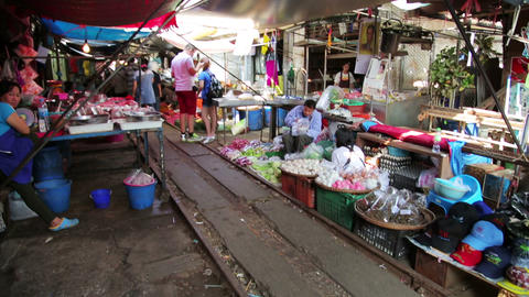 KANCHANABURI, THAILAND - FEBRUARY 2014: Train pass Footage