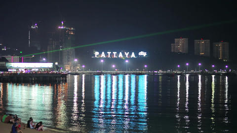 Sex tourism center of the world, Pattaya, Thailand Footage