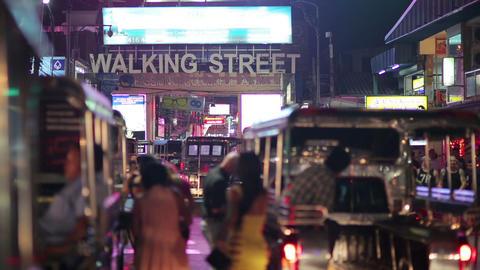 PATTAYA, THAILAND - FEBRUARY 2014: Nightlife with  Footage