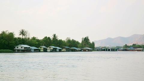 kanchanaburi city vew, thailand Stock Video Footage