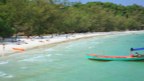 KOH RONG ISLAND, CAMBODIA -MARCH 2014: Bungalows a Footage
