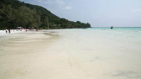 Perfect white sand and crystal water beach, koh ro Footage
