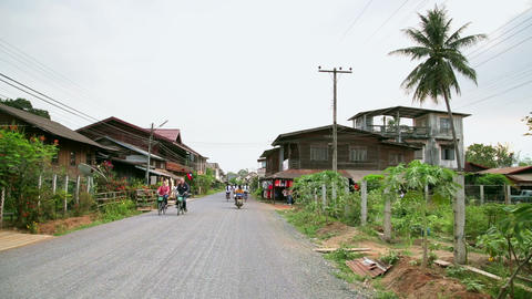 CHAMPASAK, LAOS - MARCH 2014: Everyday life of loc Stock Video Footage