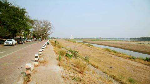 Vientiane Laos, Unusual Capital City, border cross Stock Video Footage