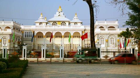 Vientiane Laos, Presidential Building Footage