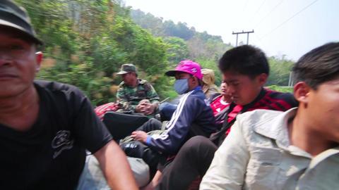 PONGSALI, LAOS - APRIL 2014: Passenger Journey Roo stock footage