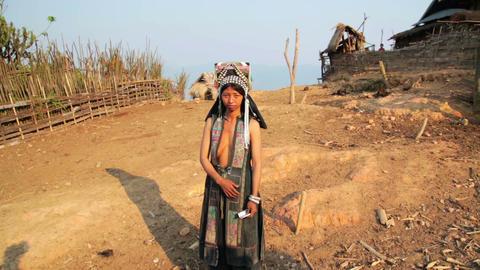 PONGSALI, LAOS - APRIL 2014: indigenous tribal nat Footage