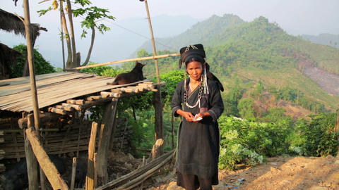PONGSALI, LAOS - APRIL 2014: indigenous tribal nat Stock Video Footage