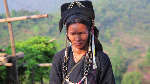 PONGSALI, LAOS - APRIL 2014: indigenous tribal nat Footage