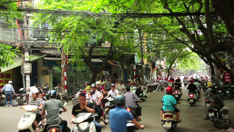 HANOI, VIETNAM - MAY 2014: everyday street life -  Footage