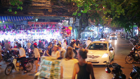HANOI, VIETNAM - MAY 2014: everyday life on street Stock Video Footage