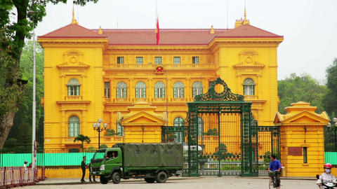 HANOI, VIETNAM - MAY 2014: Governmental building Footage