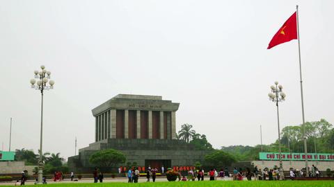 ho chi minh mausoleum, hanoi, vietnam Footage