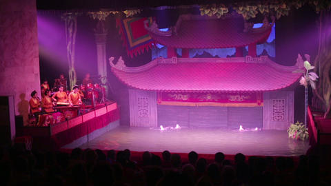 HANOI, VIETNAM - MAY 2014: water puppet show Footage