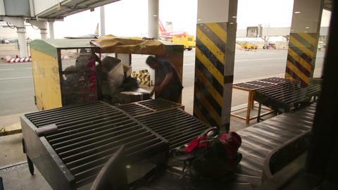 SAIGON, VIETNAM - MAY 2014: baggage claim at airpo Stock Video Footage