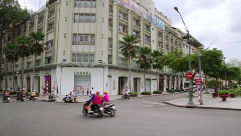 SAIGON, VIETNAM - MAY 2014: daily life at city cen Footage