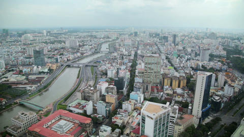 Ho Chi Minh City, Saigon downtown, Vietnam Footage