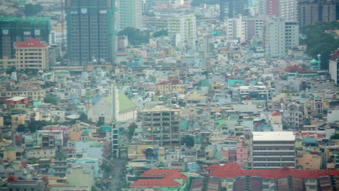 Ho Chi Minh City, Saigon downtown, Vietnam Stock Video Footage