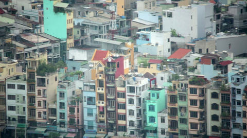 Areal view of Ho Chi Minh City Slums, Saigon, Viet Footage