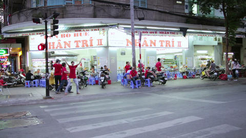 SAIGON, VIETNAM - MAY 2014: everyday life on stree Stock Video Footage