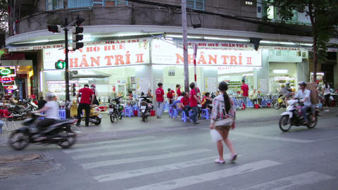 SAIGON, VIETNAM - MAY 2014: everyday life on stree Stock Video Footage
