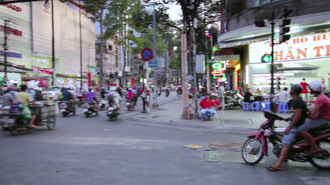 SAIGON, VIETNAM - MAY 2014: everyday life on stree Footage