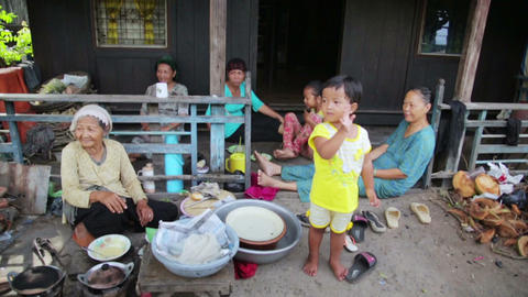 MEKONG DELTA, VIETNAM - MAY 2014: Ordinary life Footage