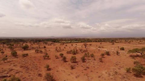 Aerial Shots Over The Savanna Of Africa Stock Video Footage
