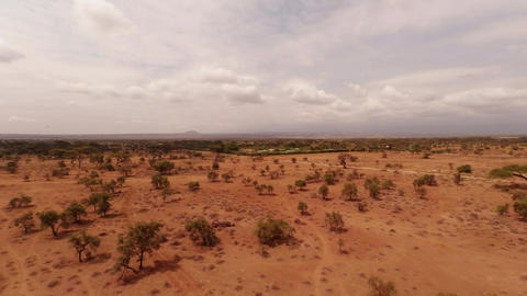 Aerial Shots Over The Savanna Of Africa Footage