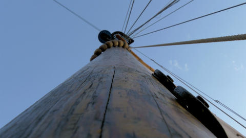 The sail mast of the big ship or boat on dock GH4  Footage