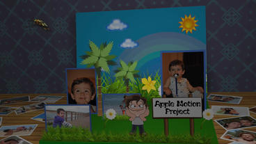 3 D Children Photo Book Apple Motion Template
